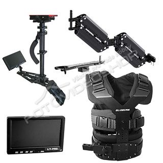 Glidecam X-22 Set + HDMI monitor +adaptér V-mount