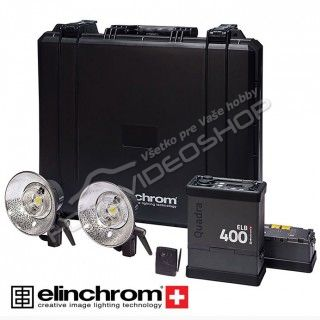 Elinchrom ELB 400 Two Pro Heads To Go Set