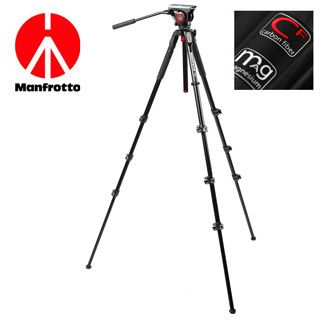 Videostatív Manfrotto HDV 2014 do 5kg 4-sekčný CARBON