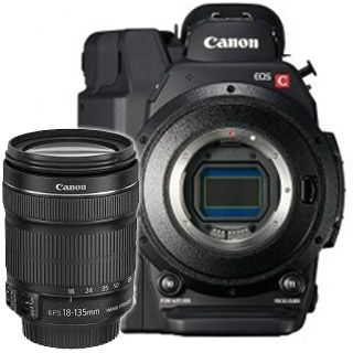 Canon EOS C100 Mark II + Canon 18-135 F3.5-5.6 EF-S IS STM