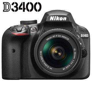 Nikon D3400 + 18-55 AF-P VR Black + 4x čistenie čipu zadarmo !