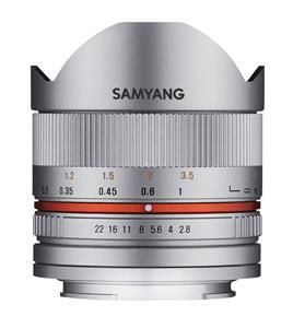 Samyang 8mm F/2,8 UMC Fish Eye II pre Fuji X silver