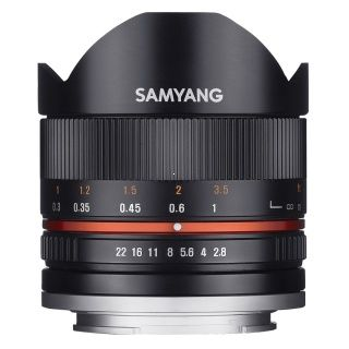 Samyang 8mm F/2,8 UMC Fish Eye II pre Fuji X black