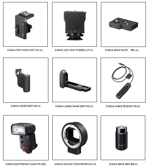 sigma fp optimal accesories