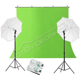 Green Screen Studio Set 325 + 325W Basic 1,6 x 5 m