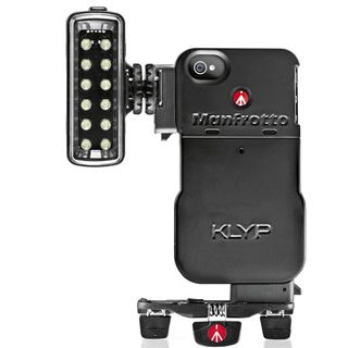 Manfrotto KLYP iPhone Case + LED svetlo 120 + Ministatív