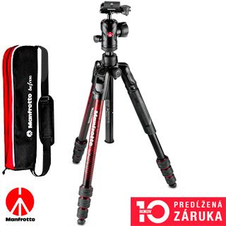 Manfrotto Befree Advanced Aluminum Travel Tripod twist, ball head MKBFRTA4RD-BH