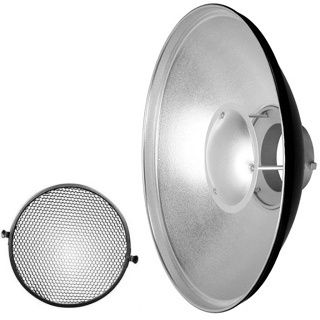 QZ-70 Beauty Dish Radar reflector silver + Voština