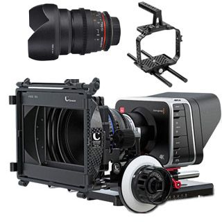 Blackmagic Production Camera 4K EF p +Samyang 24mm T1,5 + DSLR rig