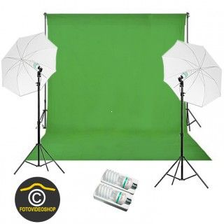Green Screen Studio Set 325 + 325W Basic 3 x 6 m