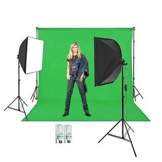 Green Screen Studio Set 2,7 x 5m (2x svetlá Daylight Softbox)