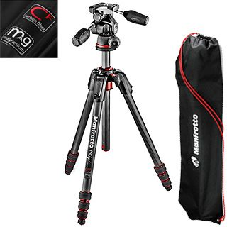 Manfrotto MK190 GO CARBON set do 4 kg (páková hlava)