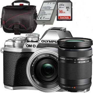 Olympus E-M10 Mark III Pancake Double Zoom kit silver