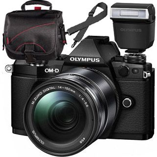 Olympus OM-D E-M5 Mark II black + ED 14-150mm black + blesk + TAŠKA Zadarmo !