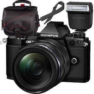 Olympus OM-D E-M5 Mark II black + ED 12-40mm black + blesk + TAŠKA Zadarmo !