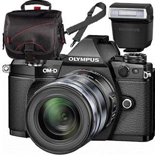Olympus OM-D E-M5 Mark II black + ED 12-50mm black + blesk + TAŠKA Zadarmo !