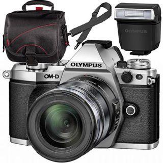 Olympus OM-D E-M5 Mark II silver + ED 12-50mm black + blesk + TAŠKA Zadarmo !