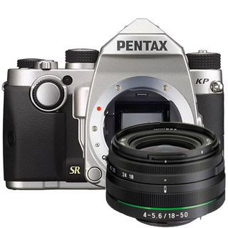 Pentax KP silver body+ DAL 18-50 DC WR RE