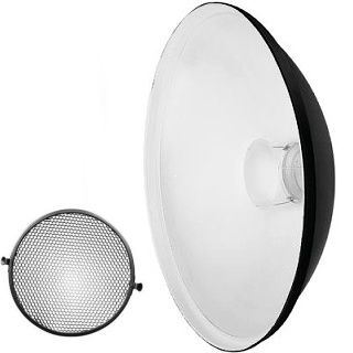 QZ-70 Beauty Dish Radar reflector biely + Voština